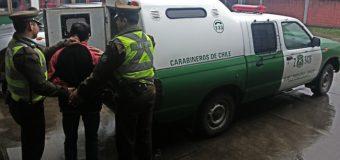 Detienen a sujeto que intentó ingresar a punto de venta de pasajes de buses en Lanco
