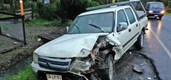 Conductor de Panguipulli sufrió accidente en cruce Los Lagos – Futrono