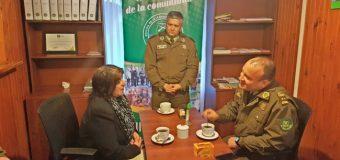 General Rodríguez y Comandante Echeverría realizaron visita protocolar en la ciudad