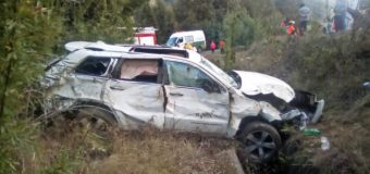 Accidente en Coñaripe deja múltiples lesionados, de diversa consideración