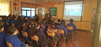 OS7 y Unidad Especial de Carabineros de Panguipulli iniciaron ciclo de charlas preventivas contra drogas y bullying