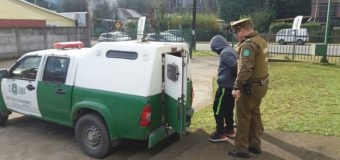 En Coñaripe, Carabineros detuvo a sujeto por robo de vehículo tras que regresara a devolverlo