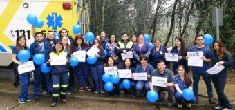 """Enfermeros/as concretaron el """"azulazo"""" en Panguipulli, por críticas al Minsal"""