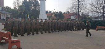 Más de 40 Carabineros recorrieron las calles de Panguipulli para entrevistarse con la ciudadanía