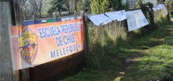 Inquietud en Escuela Municipal en Melefquén por eventual uso de terreno para crear acceso de nueva población