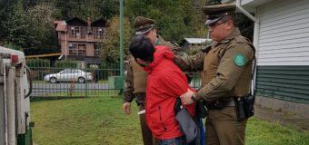 Detienen a sujetos por robo flagrante a una cabaña en las cercanías de Coñaripe