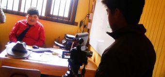 Única en la región. Imparten taller de cine a estudiantes de Escuela Pampa Ñancul