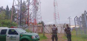 Investigan eventual sabotaje a antenas de telefonía en Los Lagos