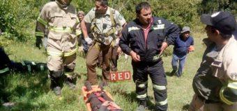 Rescatan con éxito a hombre mayor que cayó a una quebrada en Lago Neltume