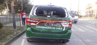 Accidente en Valdivia causa serios daños a vehículo policial de Panguipulli