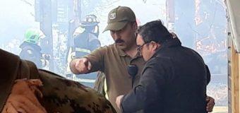 Trasladan a Tte investigado por operativo durante gran incendio en Panguipulli