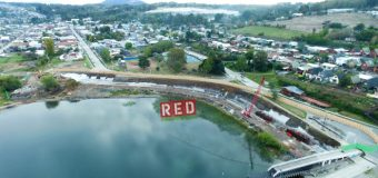 Avanzan trabajos en proyecto del Mop para renovar costanera de Panguipulli