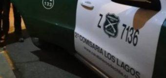 Carabineros detiene en Los Lagos a sujeto que robó cilindro de gas usando una carretilla