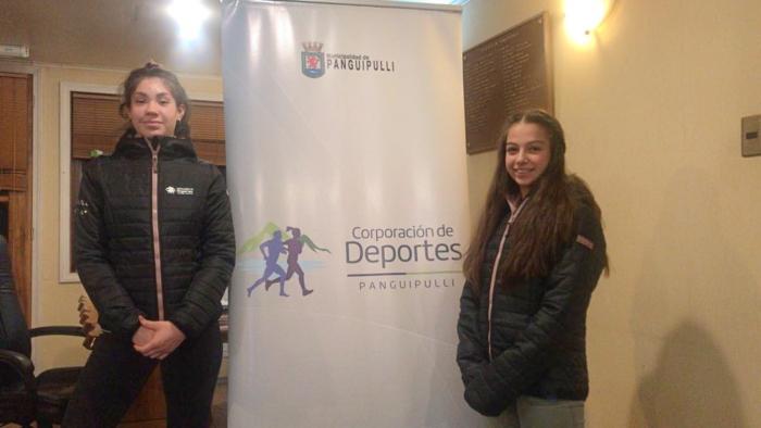 En la Foto: Josefa Durán a la izquierda. Ema Santis a la derecha.