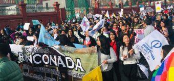 Paro nacional: Docentes de la zona marchan hasta paseo Bulnes en la capital del país