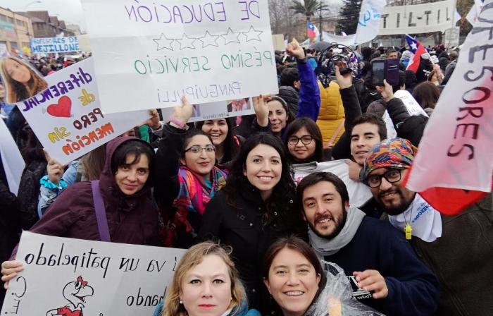 Docentes de Panguipulli en Valparaíso