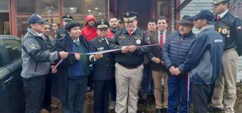 Cuerpo de Bomberos de Choshuenco conmemora nuevo aniversario inaugurando moderna central de alarmas