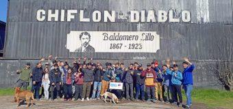 Estudiantes del Liceo de Excelencia PHP Pullinque conocieron zona minera del Biobío