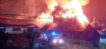 Labocar investiga presunta intencionalidad en incendio en ex-estación de trenes en Lanco