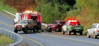 Dos accidentes se registraron en Payahuinte la tarde de ayer por químico en la calzada