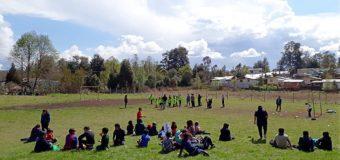"""Centro de Alumnos de Escuela Pampa Ñancul organizó """"olimpiadas"""""""