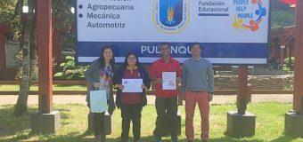 """Estudiante del Liceo de Excelencia PHP Pullinque ganó concurso de la """"Frase Saludable"""" de Junaeb"""
