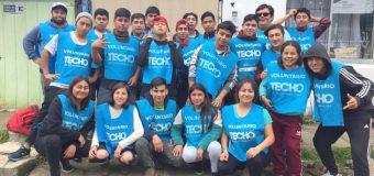 Estudiantes de Construcción del Liceo Bicentenario PHP Pullinque fueron parte de operativo constructivo junto a TechoChile
