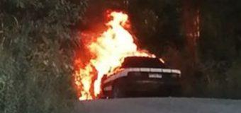 Auto se incendió en las cercanías de Calafquén