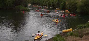 Con más de 50 kayak se llevó a cabo la «travesía ancestral» de Lago Neltume