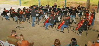 Orquesta Sinfónica de Panguipulli realizó concierto para la comunidad de Liquiñe