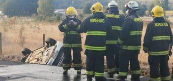 4 Lesionados leves dejó accidente vehicular en tramo Lanco a Panguipulli