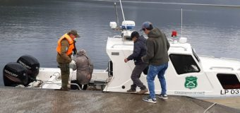 Lancha de Carabineros realizó evacuación de emergencia desde Pirehueico a Puerto Fuy