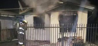 Sujeto fue detenido tras incendio presuntamente intencional en Lanco