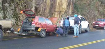 Solo daños materiales dejó accidente en las cercanías de Choshuenco