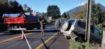 Al menos dos accidentes se generaron por el hielo en la vía en las cercanías de Coñaripe