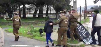 Funa a autoridades de Gobierno en Panguipulli terminó con dos detenidos