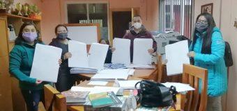 Escuela Pampa Ñancul continúa llevando material de estudio a hogares
