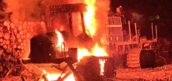 Desconocidos incendiaron maquinaria en predio forestal de Luksic en Malalhue