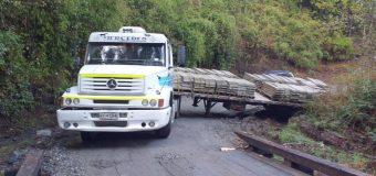 Accidente de camión mantuvo 5 horas interrumpido el tránsito entre Lago Neltume y Río Hueico
