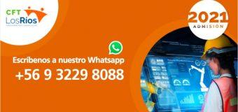 CFT de Los Ríos habilitó matrícula online y WhatsApp para facilitar su proceso de admisión 2021