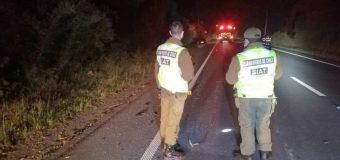 Formalizan a conductor por muerte de motociclista en accidente en Malalhue