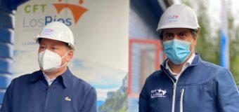 Autoridades inspeccionan avances en nueva sede del CFT de Los Ríos en Panguipulli
