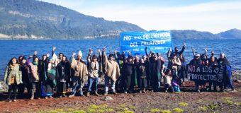 Comunidades de Coñaripe se manifestaron en contra de proyecto en el borde lago
