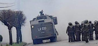 Alcalde Burgos se mostró preocupado respecto al «uso inmediato de la fuerza por parte de Carabineros»