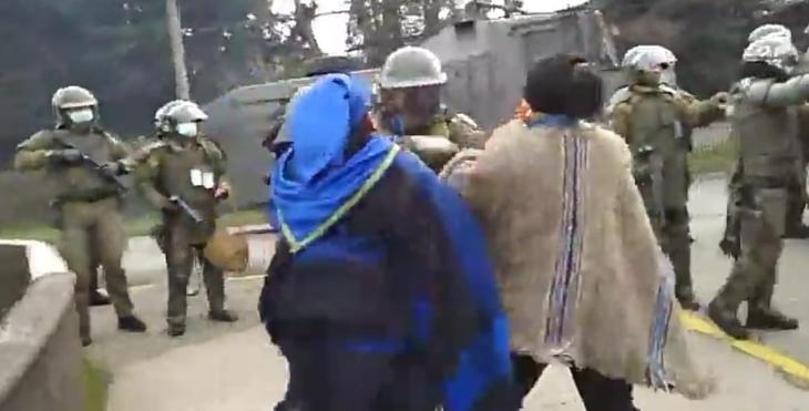 La acción de Carabineros para detener la manifestación en Panguipulli terminó con solo un detenido
