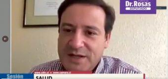 """Diputado Rosas por refuerzo de dosis a personal de salud: """"Se puede controlar la pandemia si nos adelantamos"""""""