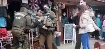 Violenta riña entre mujeres terminó con tres detenidas en pleno centro de Panguipulli