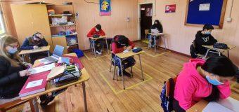 80% de alumnos volvió a clases presenciales en Escuela Pampa Ñancul