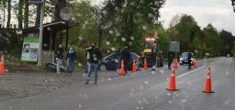 Accidente en las cercanías de Panguipulli dejó a un motociclista con lesiones leves